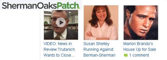Sherman Oaks Patch story on Susan Shelley for Congress