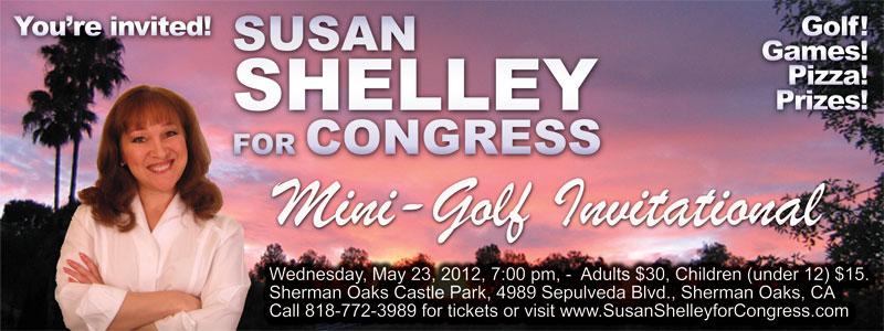 Susan Shelley for Congress Mini-Golf Invitational, you're invited!