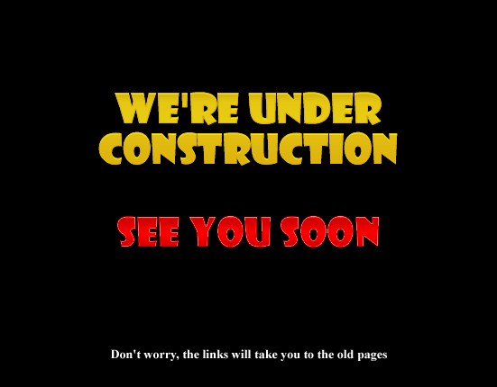 We're under construction