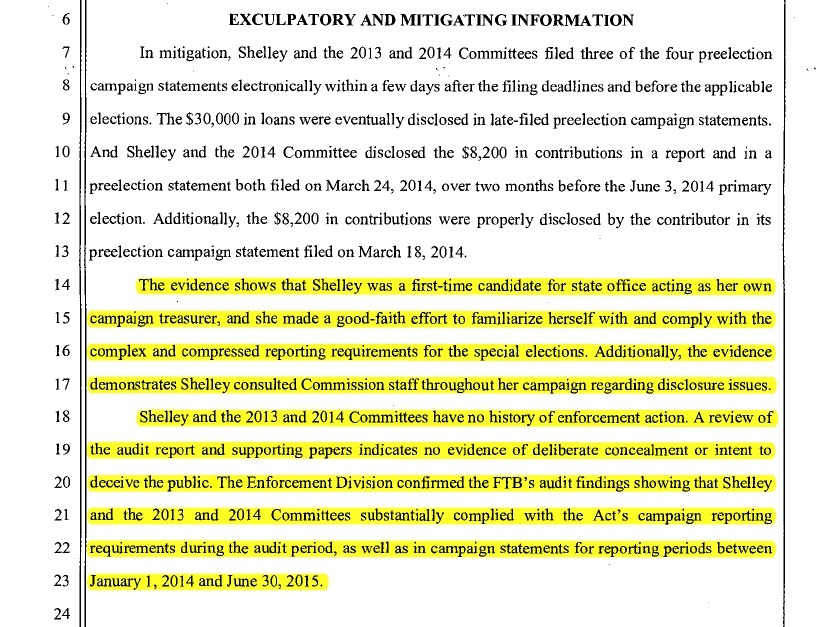 FPPC admits there was a good-faith effort and substantive compliance with the law